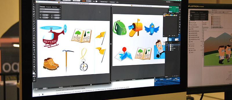 Ilustraciones coloreadas en Illustrator