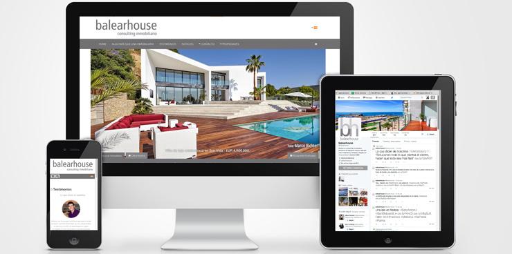Balearhouse web y Twitter