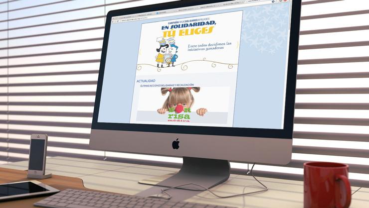 Web Fundación Iberostar - Solidarios
